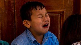 子供たち, 泣き声(写真出所:インターネット)