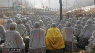 観光名所にある500体の阿羅漢像が撤去される