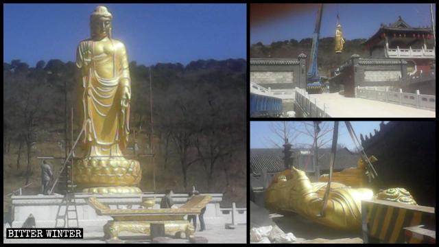 中国東北地域において1,200体以上の仏像が撤去