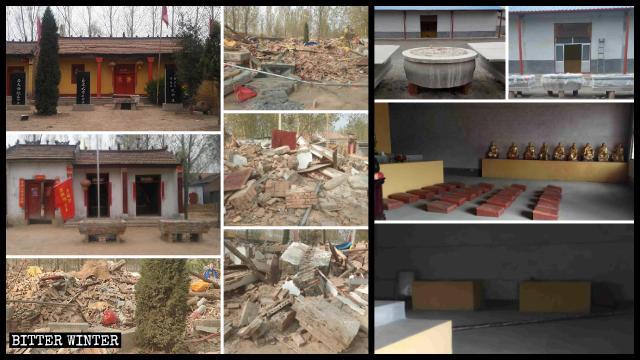 臨沂市の仏霊寺から仏像が撤去された。菏沢市では複数の寺院が取り壊された。