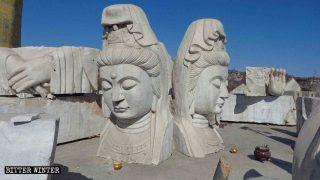 中国では霊園の仏像も排除の対象になる