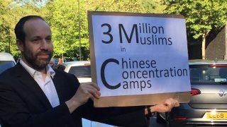 ウイグル族のために立ち上がったユダヤ教徒の孤独な抗議活動