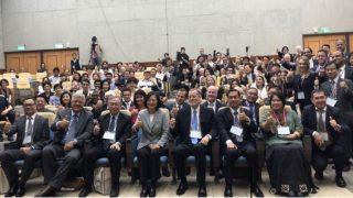 蔡英文総統と会議の参加者たち。