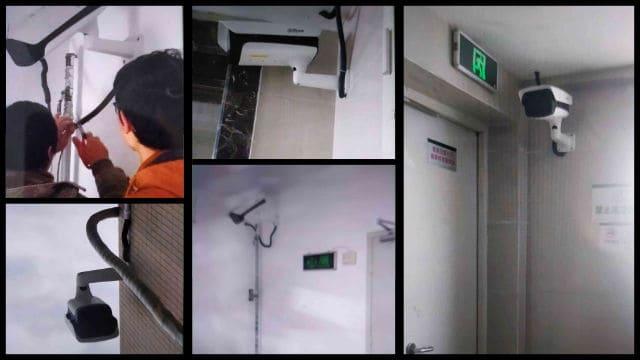 信仰義認派教会の集会場を監視するためのHD監視カメラが設置された。