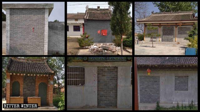 南陽村の五聖宮と焦六村の寺院を含む青化郷の6軒の寺院が全て封鎖された。