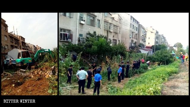 「中国のイメージを守る」ためにめちゃくちゃにされた菜園。