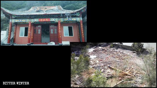 玉環市の道教寺院は7月19日に取り壊された。