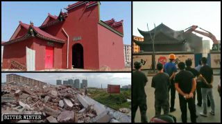 江西省 村民が祠堂の取り壊しを阻止できず