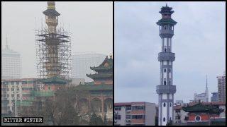 河南省の名高いイスラム建築の鄭州北大モスクが「中国化」される