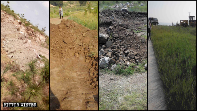 巡礼地への近道は掘り起こされたり、ふさがれたりしていた。