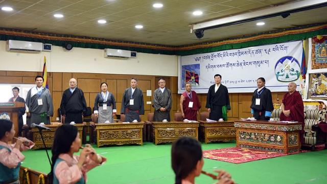 ダラムサラで行われた第3回特別総会の開会式。チベット政策提言機関提供。