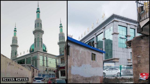 原州区の九龍路清真寺からイスラム教の象徴が撤去された。