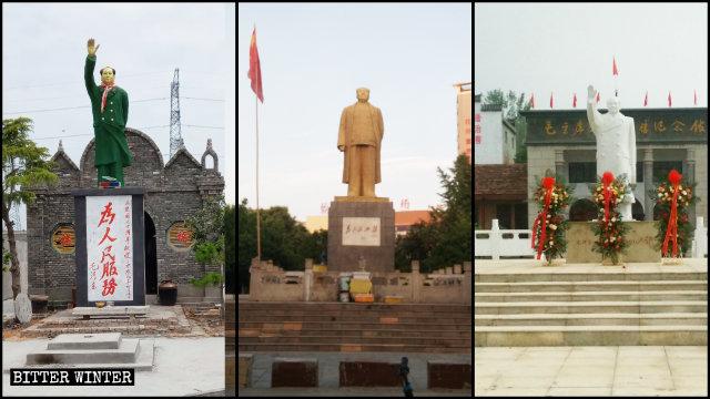 全国で見られる屋外の毛沢東像。