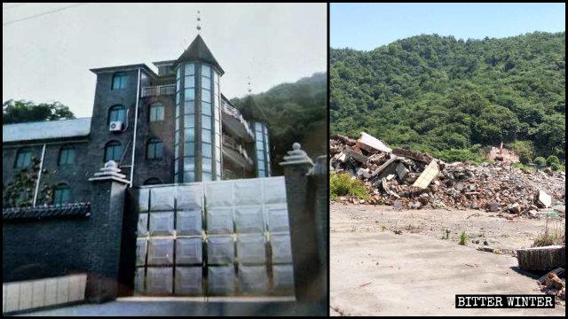 杭州市の三自教会が5月12日に取り壊された。